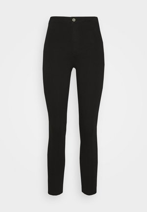 VICE HIGH WAISTED SKINNY - Skinny džíny - black