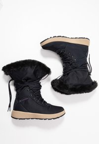 Columbia - SLOPESIDE VILLAGE OMNI-HEAT - Śniegowce - extreme midnight/cyber purple - 1