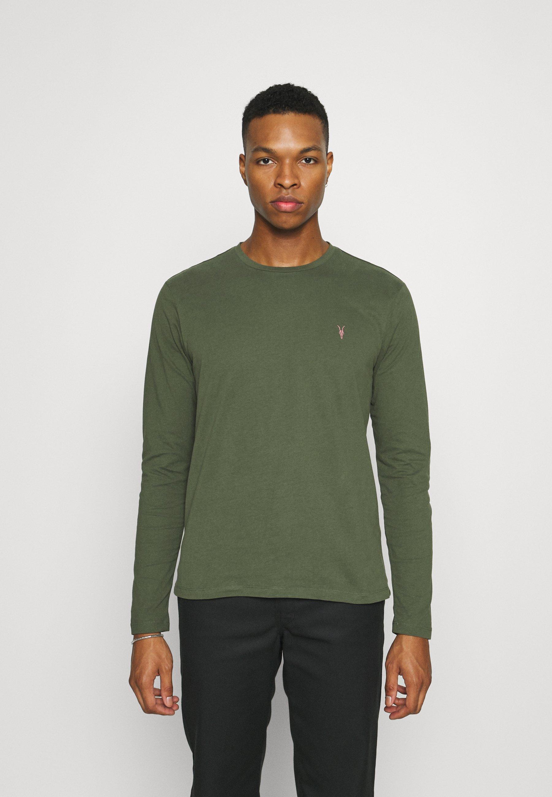 Men BRACE CONTRAST CREW - Long sleeved top