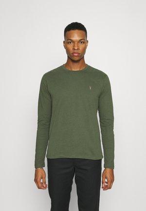 BRACE CONTRAST CREW - Long sleeved top - marsh green