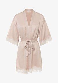 OYSHO - MIT SPITZE - Dressing gown - beige - 5