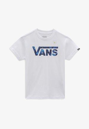 BY VANS CLASSIC LOGO FILL KIDS - Print T-shirt - white/galactic glow