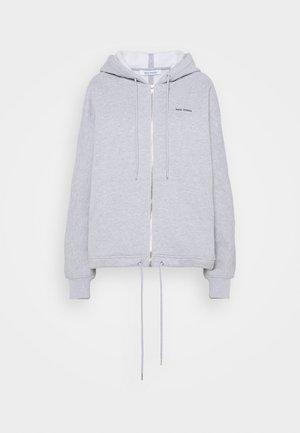 LOGOZIPHOODIE - Zip-up hoodie - greymelange