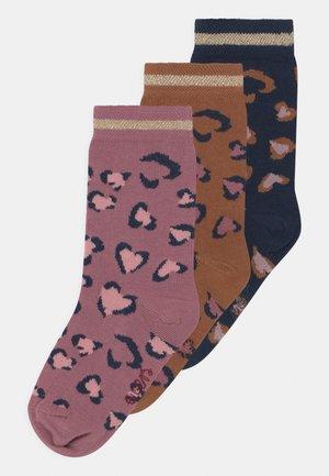 LEO 3 PACK - Socks - rosa/tinte/toffee