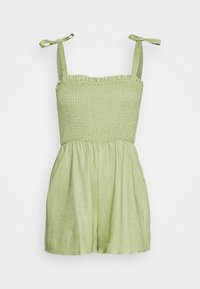 Missguided - TIE STRAP SHIRRED BODICE PLAYS - Overal - khaki - 4