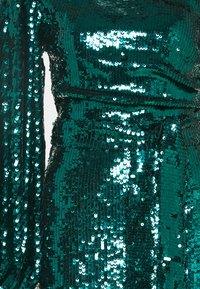 Missguided - PARTY SEQUIN TIE FRONT BALLOON SLEEVE DRESS - Cocktail dress / Party dress - teal - 2