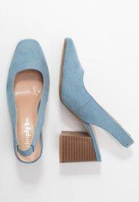 Simply Be - WIDE FIT LEXI - Escarpins - dusky blue - 3