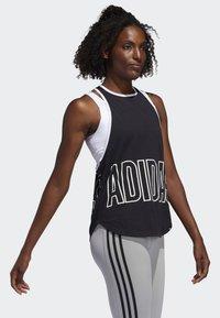 adidas Performance - ALPHASKIN GRAPHIC TANK TOP - Top - black - 3