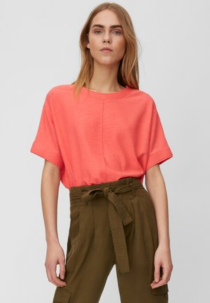 SHORT SLEEVE FABRIC PATCH AT BACKSIDE - Blouse - mottled pink