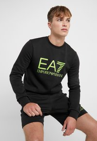 EA7 Emporio Armani - Sweatshirt - black / neon / yellow - 3