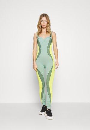 IVY PARK CIRCULAR KNIT CATSUIT 2 - Jumpsuit - green tint/dark green/yellow tint