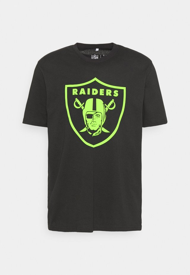 NFL LAS VEGAS RAIDERS NEON POP CORE GRAPHIC  - Club wear - black