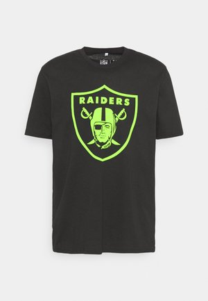 NFL LAS VEGAS RAIDERS NEON POP CORE GRAPHIC  - Artykuły klubowe - black
