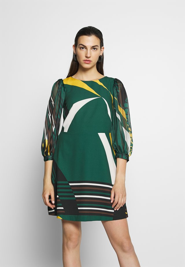 CLOSET SHORT PUFF SLEEVE DRESS - Robe d'été - green