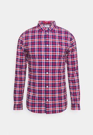 STRETCH POPLIN CHECK SHIRT - Skjorta - deep crimson big check