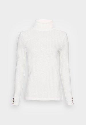 HIGHNECK - Top sdlouhým rukávem - off white