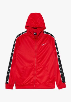 HOODY TAPE - Zip-up hoodie - university red/white