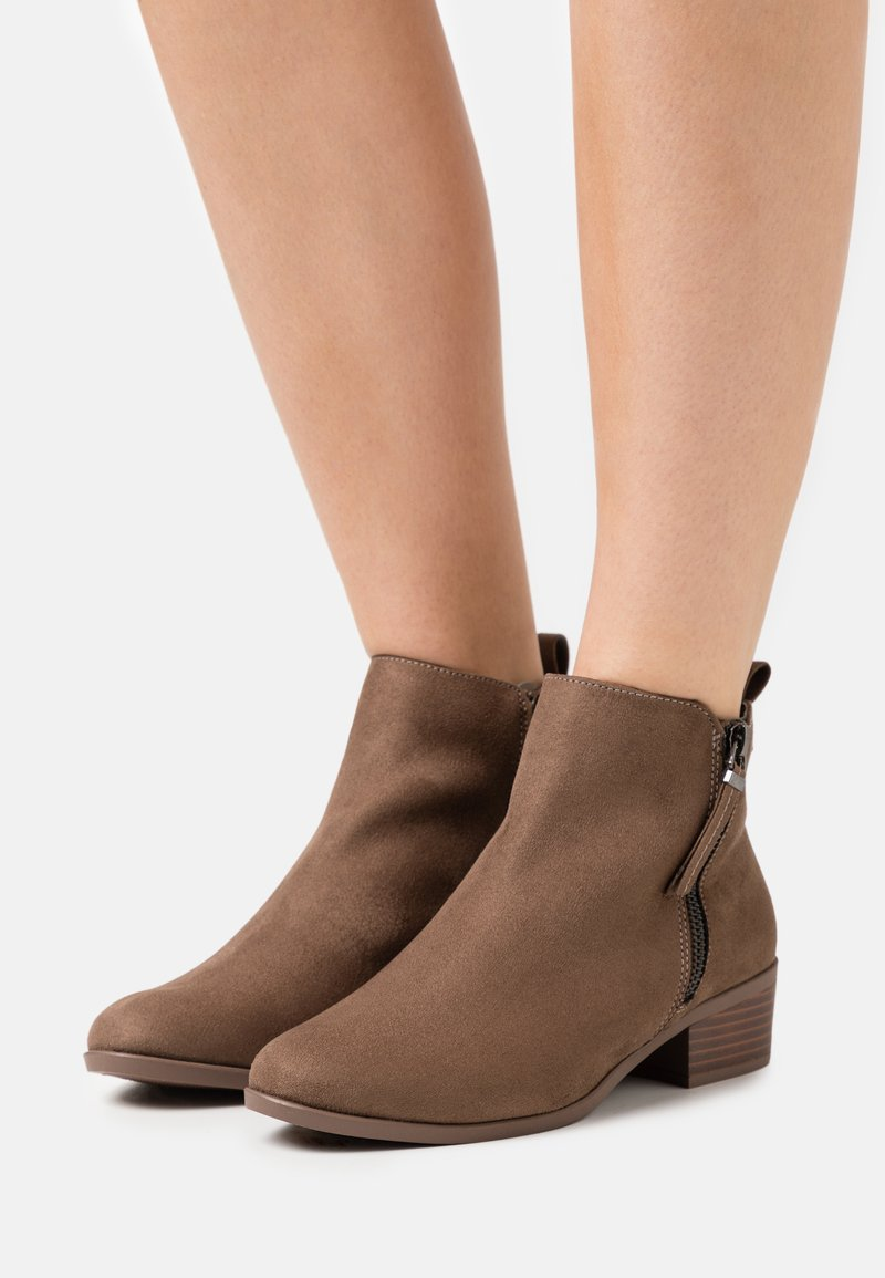 Dorothy Perkins Wide Fit - WIDE FIT MACRO SIDE ZIP  - Ankle boots - tan
