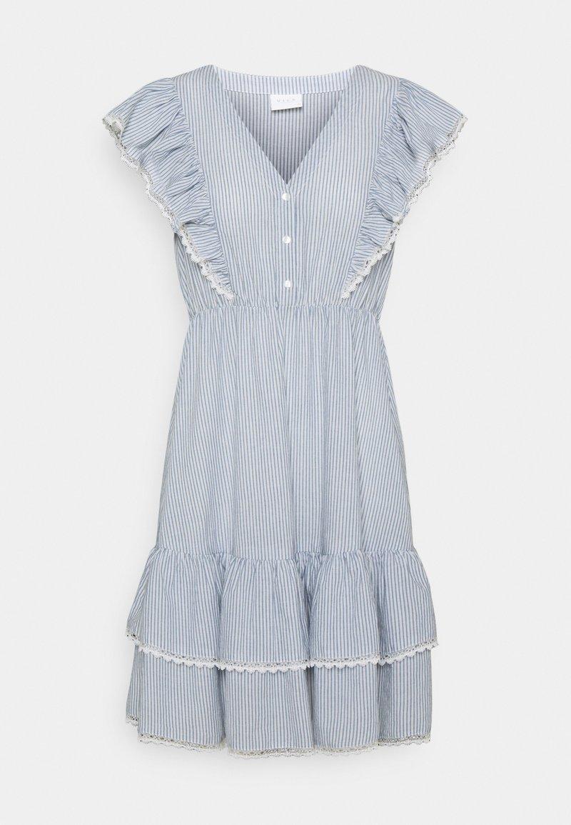 VILA PETITE - VIMALIA FLOUNCE DRESS - Day dress - snow white/colony/navy