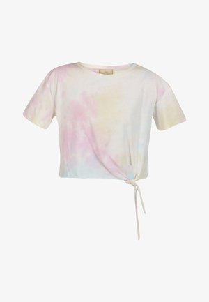 Print T-shirt - pink blau gelb