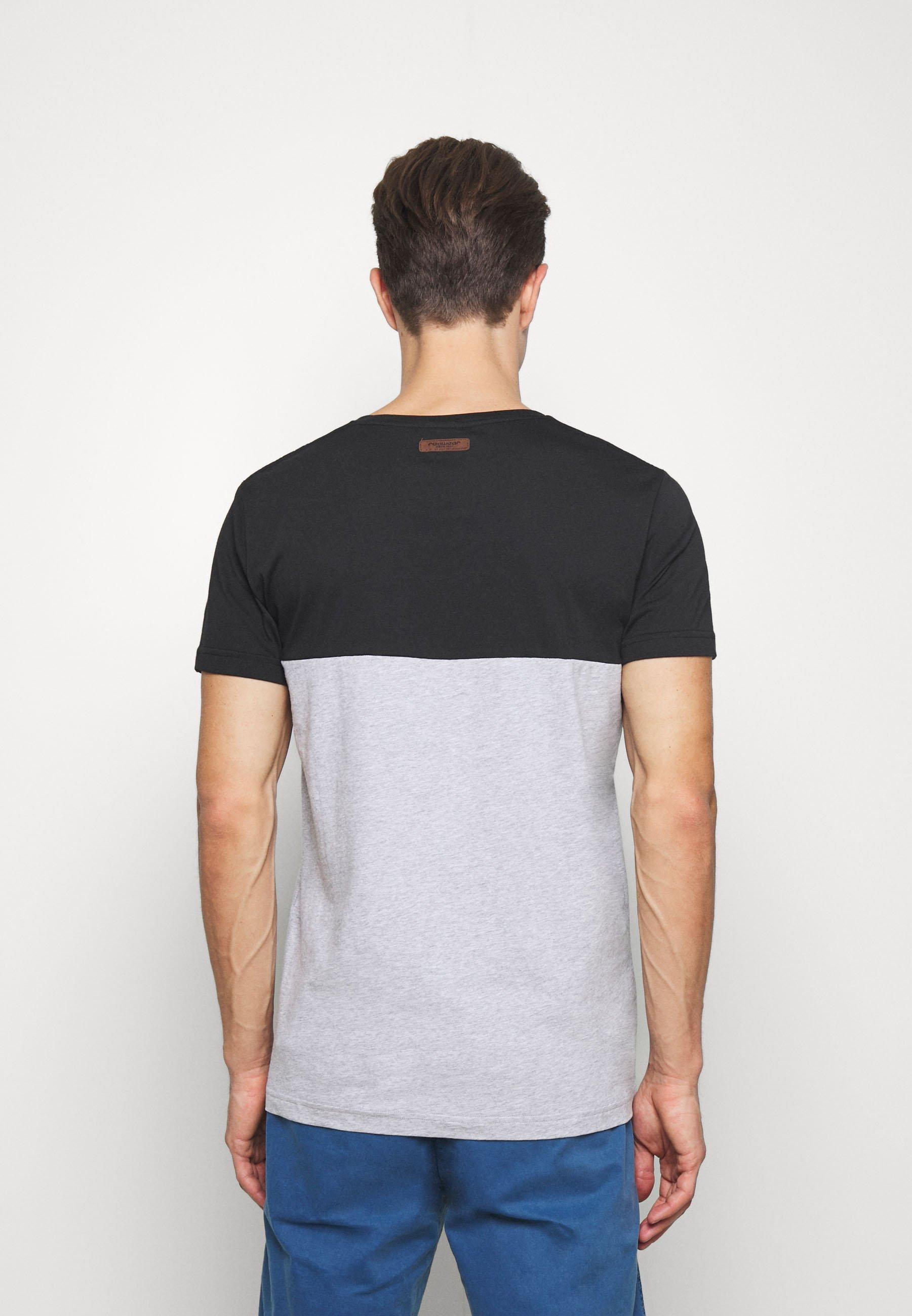 Ragwear BLANT - Print T-shirt - black oeFXk