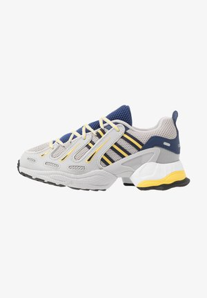 EQT GAZELLE - Matalavartiset tennarit - grey two/legend ink/yellow