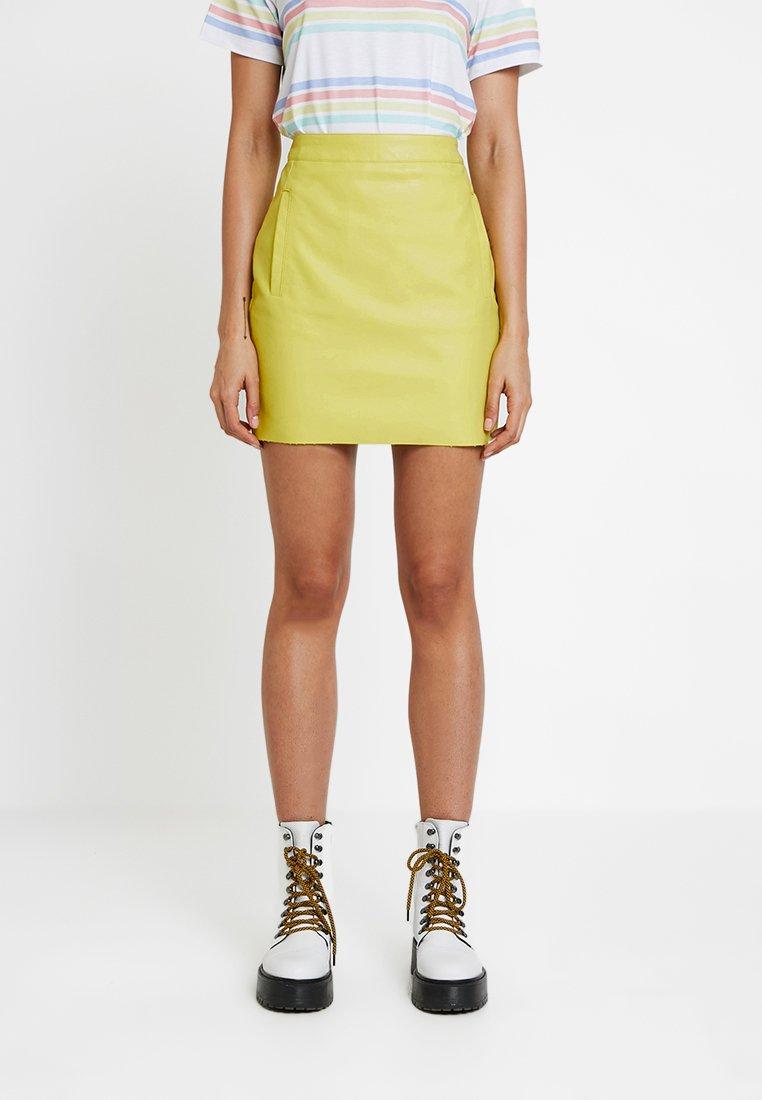 Even&Odd - Mini skirt - neon green