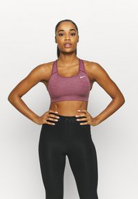 Nike Performance - BRA NON PAD - Sport BH - dark beetroot/pure/white - 0