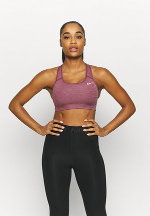 BRA NON PAD - Sport BH - dark beetroot/pure/white