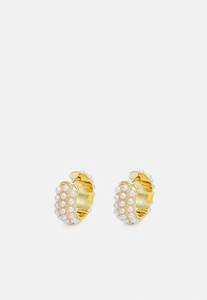 EMBELLISHED DOMED HOOPS - Earrings - gold-coloured