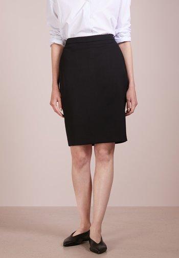 ERENE - Pencil skirt - night black