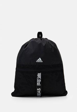 3 STRIPES TRAINING SPORTS GYM SACK UNISEX - Drawstring sports bag - black/black/white