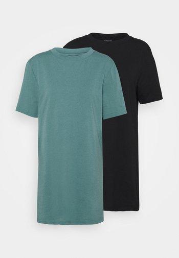 2 PACK - Žerzejové šaty - black/light blue