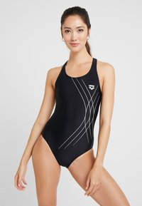 Arena - SOUL SWIM PRO BACK ONE PIECE - Swimsuit - black - 0