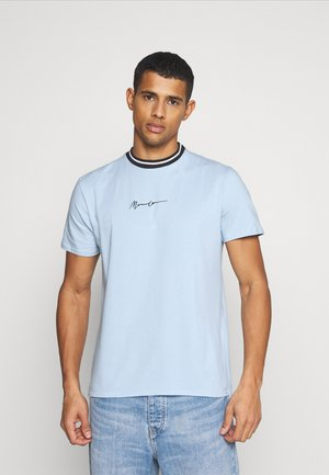 ESSENTIAL STRIPE NECK UNISEX - Print T-shirt - sky blue