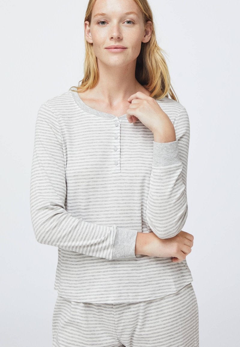 OYSHO - STRIPED - Nattøj trøjer - grey