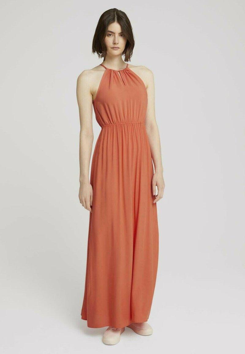 TOM TAILOR DENIM - Maxi dress - sundown coral