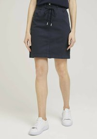 TOM TAILOR - MIT KORDELZUG - A-line skirt - sky captain blue - 0