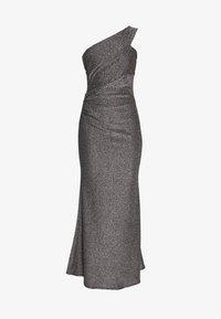 WAL G. - RUCHED ONE SHOULDER DRESS - Suknia balowa - silver - 3