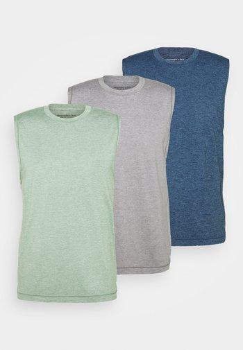 TANK 3 PACK - Linne - blue/grey/green
