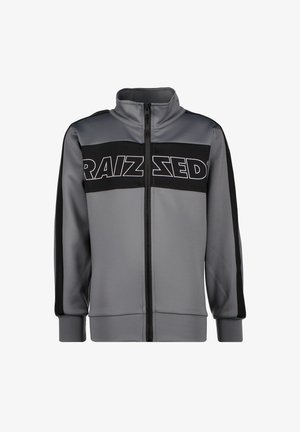 Sweater met rits - metal grey