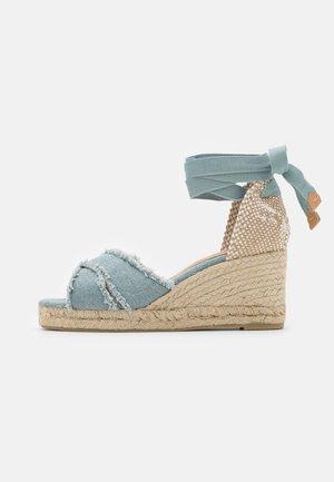 BLUMA  - Korkeakorkoiset sandaalit - water blue