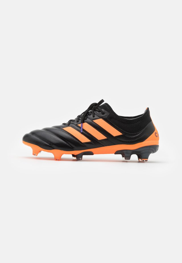 COPA 20.1 FOOTBALL FIRM GROUND - Moulded stud football boots - clear black/signal orange/energy ink