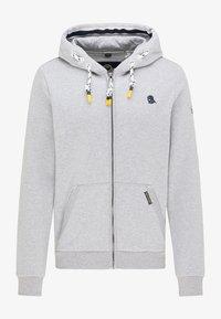 Schmuddelwedda - SWEATJACKE - Zip-up hoodie - hellgrau melange - 4