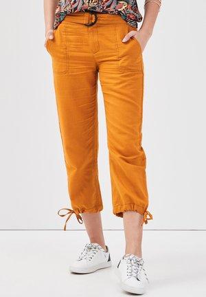 Pantalon classique - jaune moutarde
