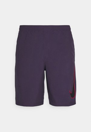DRY ACADEMY SHORT - Korte sportsbukser - dark raisin/black