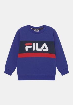 CARL BLOCKED CREW UNISEX - Sweater - royal blue/black iris/true red