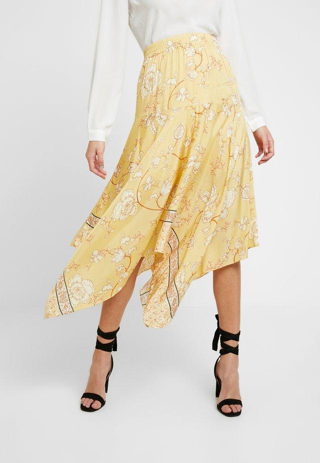 ELBA SUNNY SKIRT - Spódnica trapezowa - light yellow