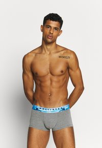 Hollister Co. - INTEREST 3 PACK - Pants - grey/black/turquoise - 3
