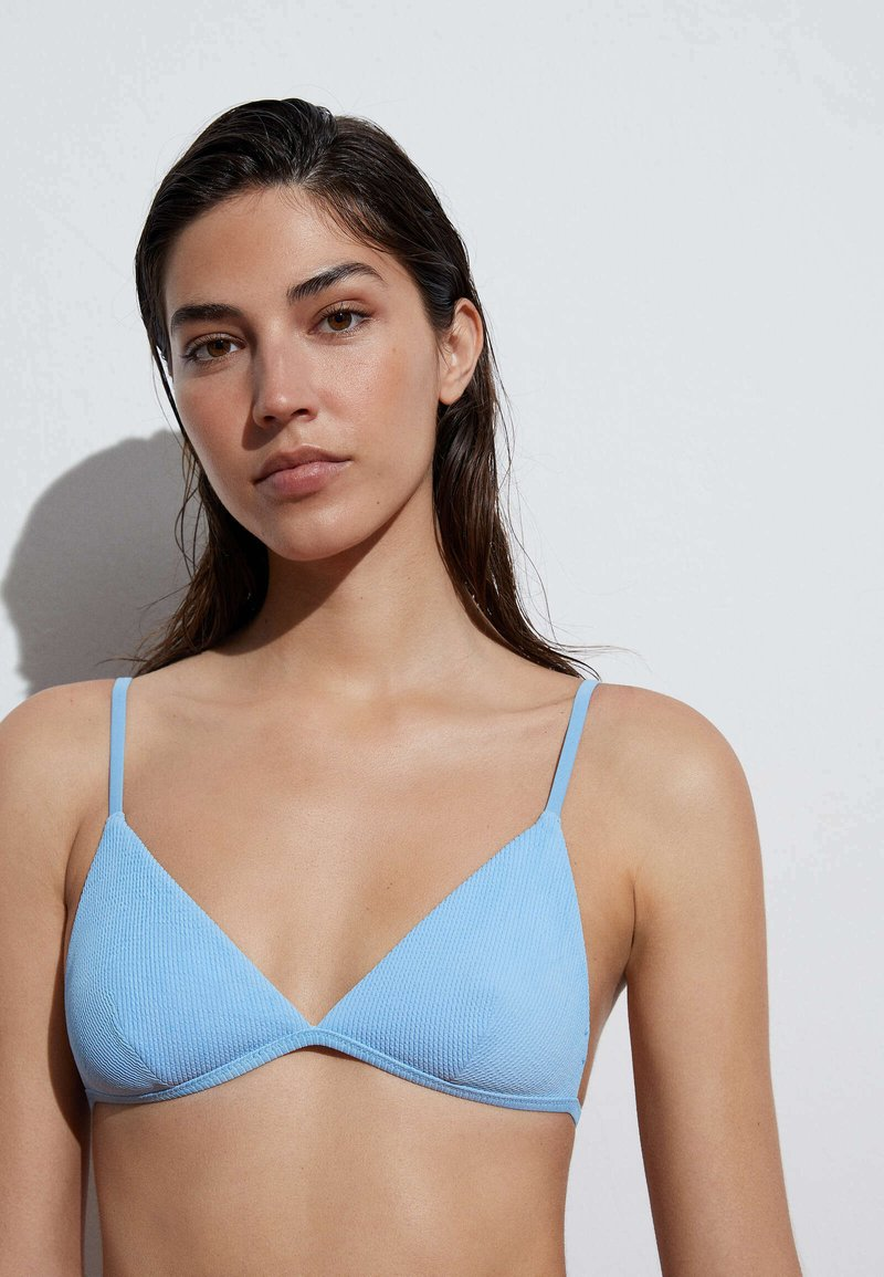 OYSHO - Bikini top - light blue